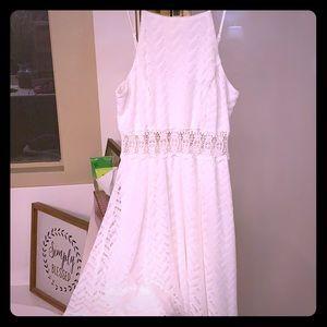 White crotchet sun dress
